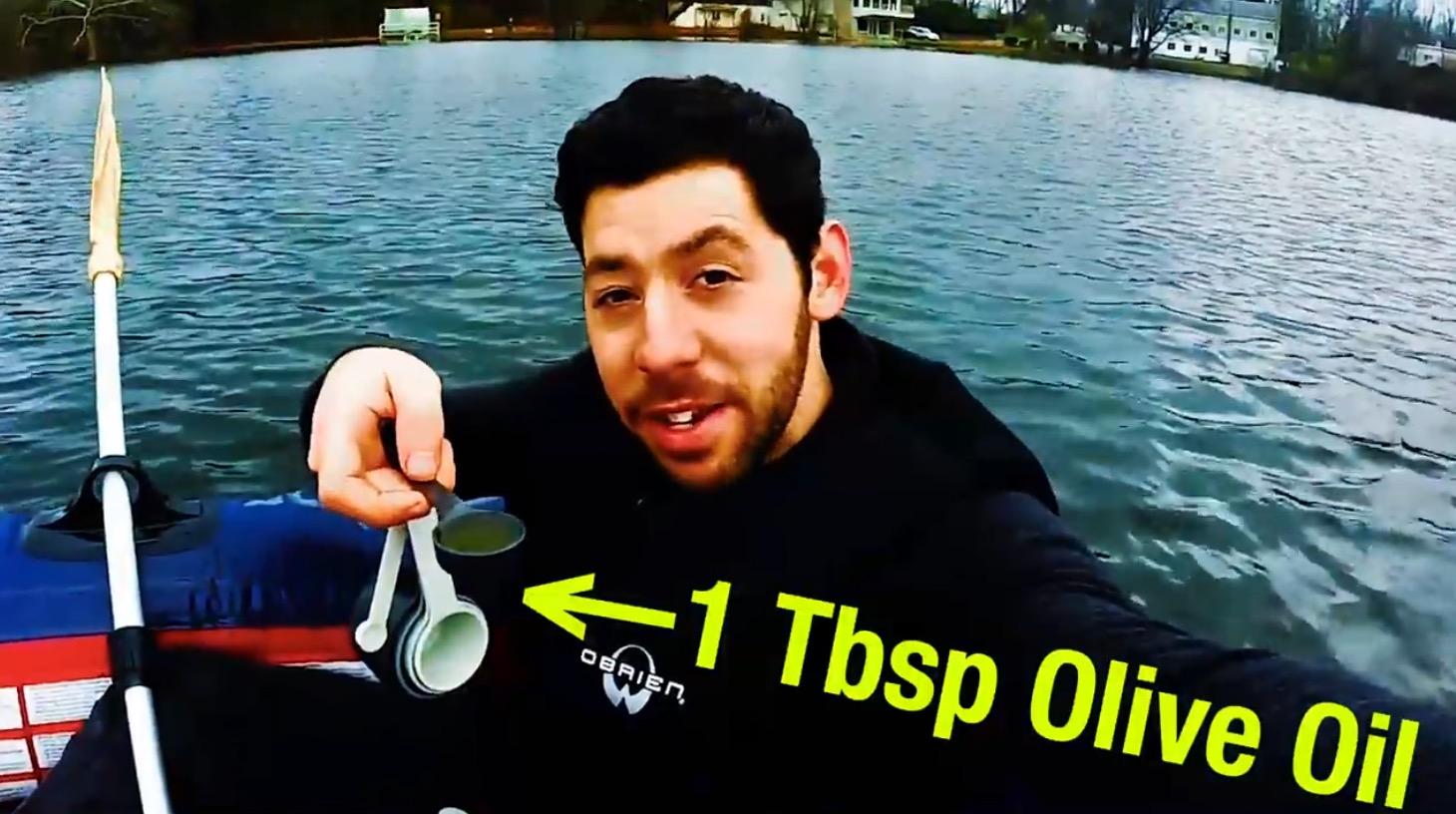 マジ?!大さじ1杯のオリーブオイルで、直径30メートルに渡り「波」が穏やかに!!