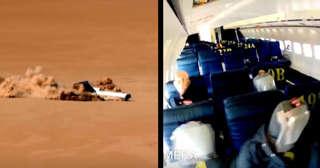 一番生存率が高いのはどの席?旅客機を墜落させるダイナミックすぎる実験映像!!