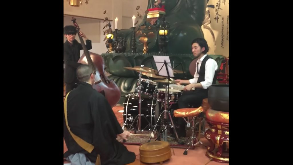 本物の住職が「お経&木魚」で参加するジャズセッションがかっこよすぎる!この木魚テク只者じゃない!!