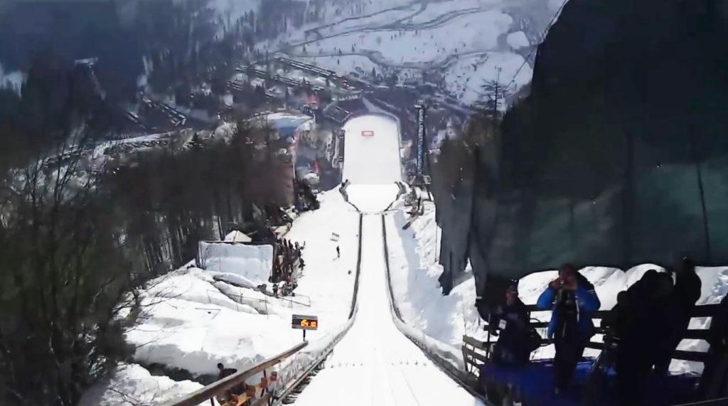 こんな高所から、、スキージャンプの視点映像が凄い!!