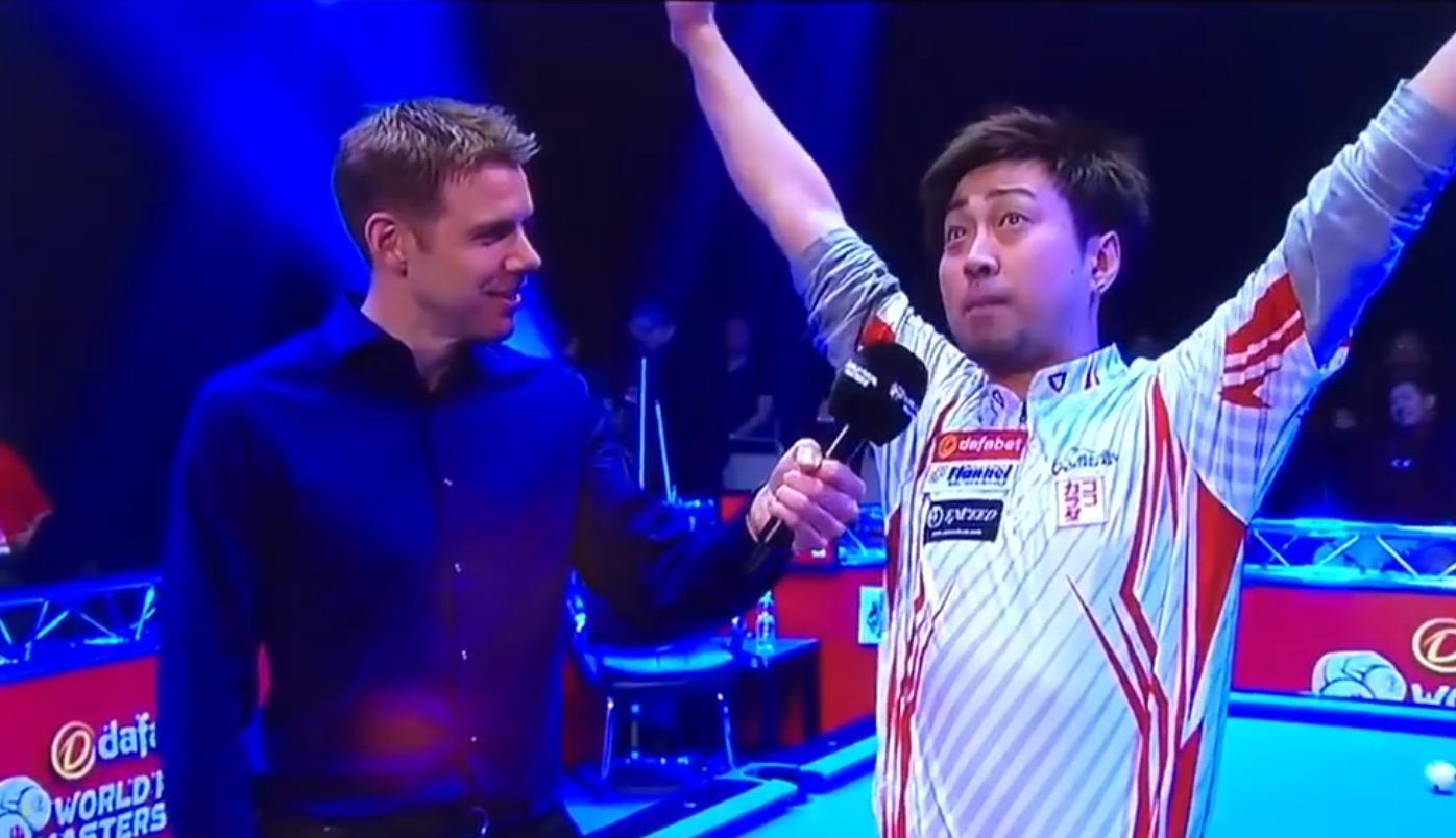 世界が爆笑!ビリヤード大会で優勝の日本人選手、英語インタビューを少ない語彙とテンションだけで乗り切って話題に!!