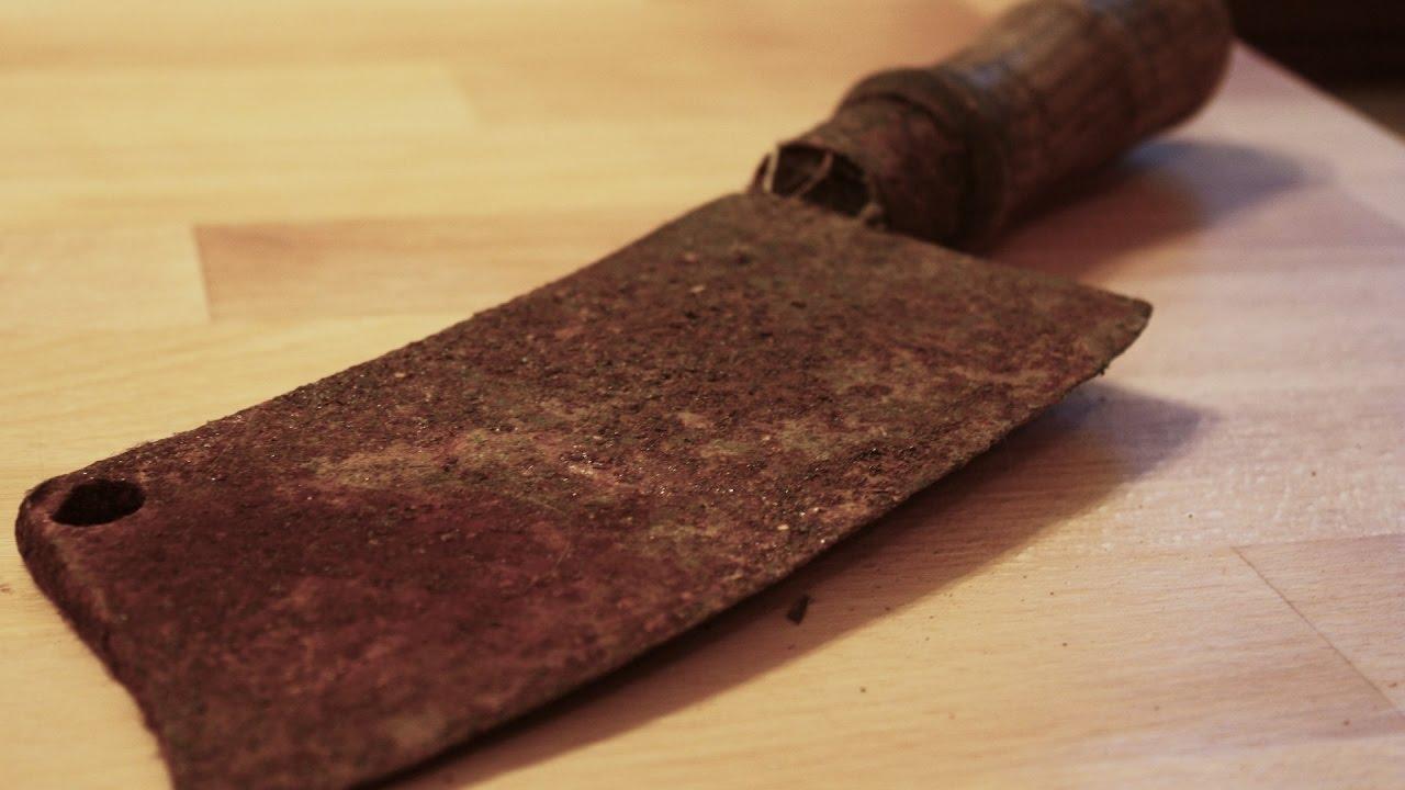 捨てられて錆びついていたナイフがピカピカに!ついつい見入ってしまう映像