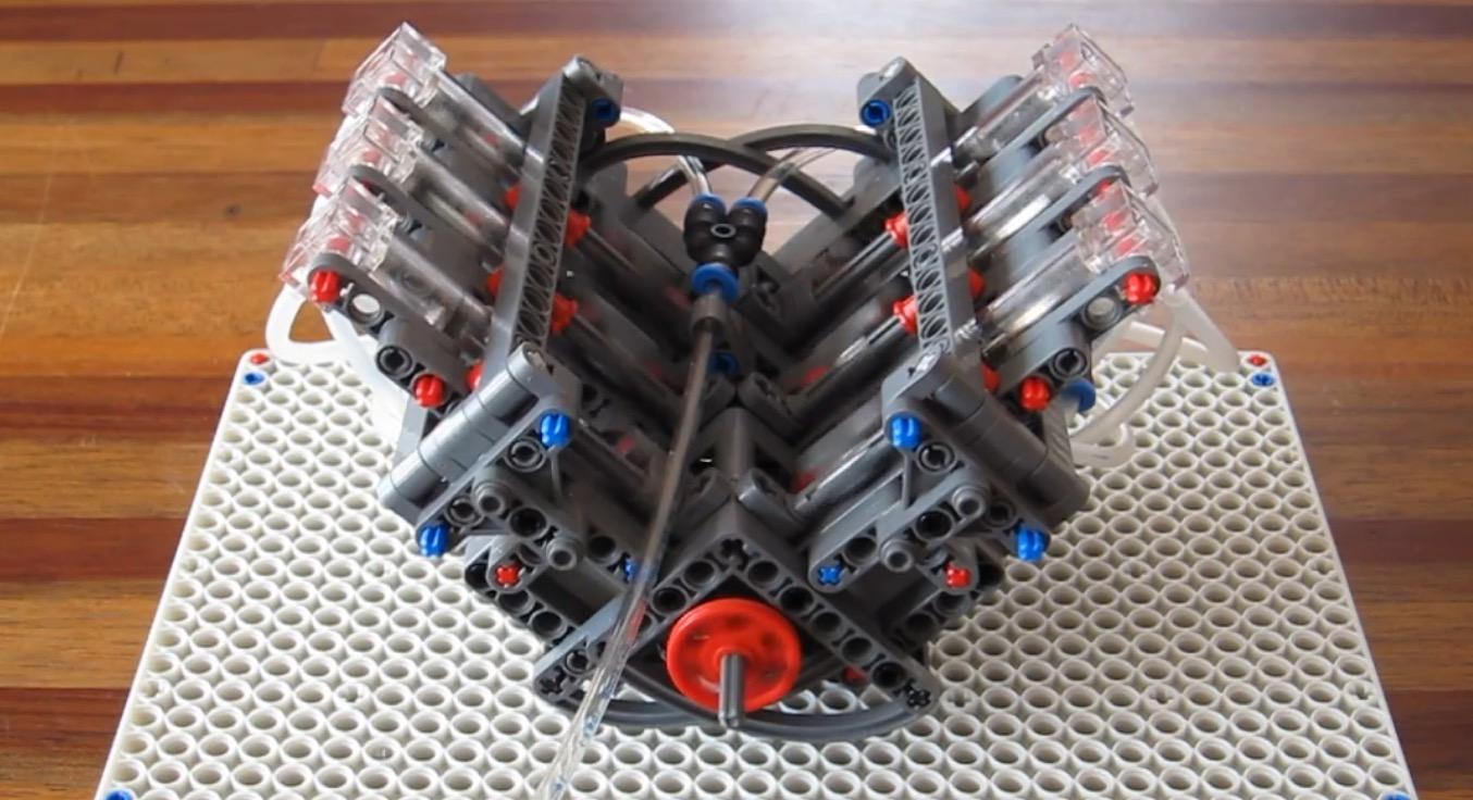 動いてる!レゴで作られたミニV6エンジンが凄い!!