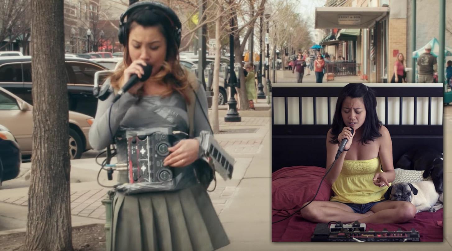 歩きながら自分の声を多重録音し、即興でクールな音楽を生み出す少女が超かっこいい!!