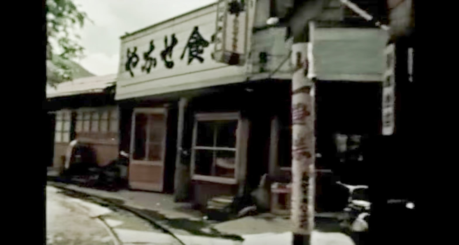 日本にかつてあった、民家の軒先を走る路地裏鉄道「やなせ森林鉄道」