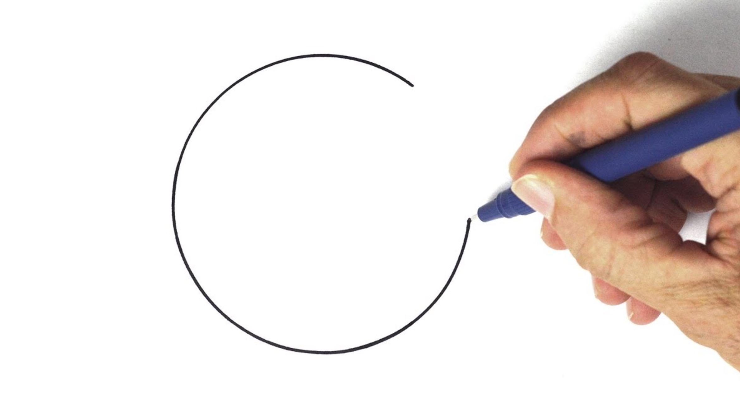 紙と鉛筆だけでほぼ完璧な「円」を描く方法がスゴい!