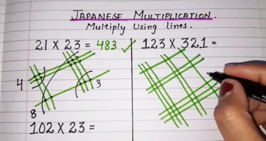 桁が大きくても「線」を描いて視覚的にできる「掛け算の方法」がスゴいと海外で話題に!1億回以上再生される人気っぷり