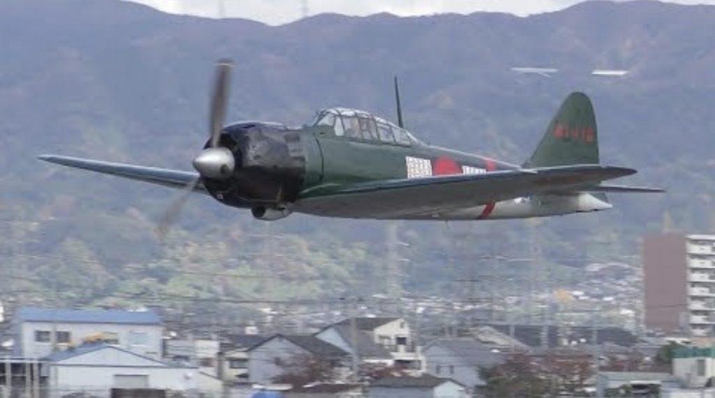 戦後初のゼロ戦「日本人所有の機体」「日本人パイロット」による超低空の国内飛行が行われる
