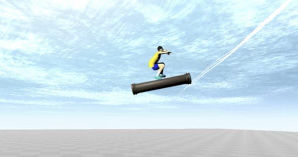 ドラゴンボール「タオパイパイ」の柱乗りを物理演算シミュレーションしたら凄い速さに笑
