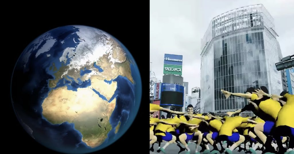 76億人の全人類が「同時ジャンプ」したら地球はどうなるのか?物理演算エンジンでシミュレーションしてみた!