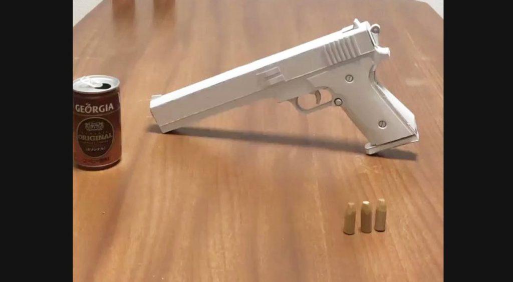 【日本】厚紙で工作したおもちゃの拳銃のクオリティが凄いと話題に!内部映像あり【ペーパークラフト】