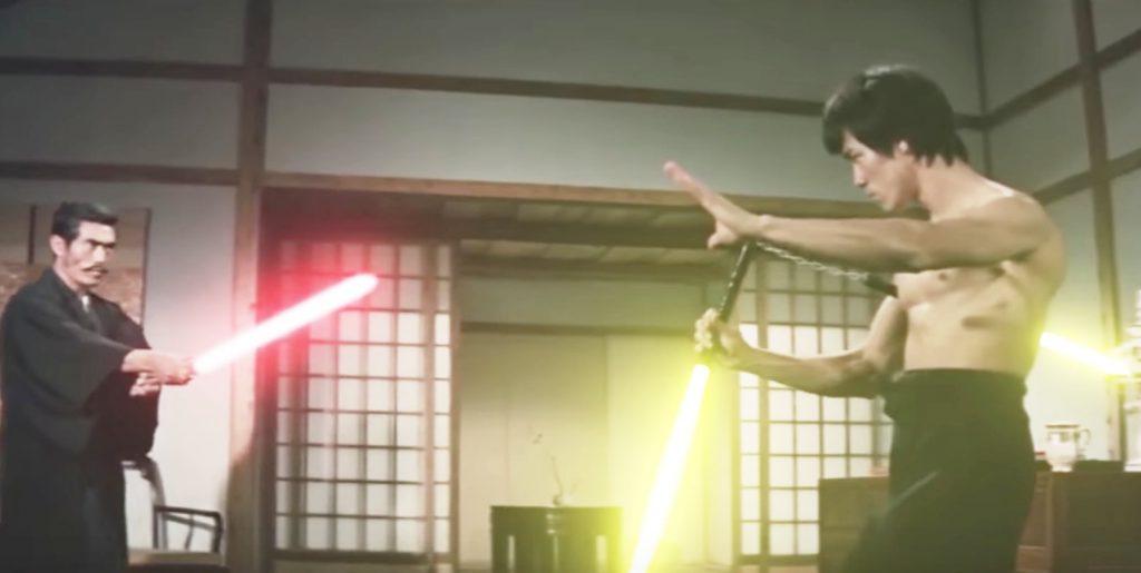 ブルース・リーのヌンチャクをライトセーバーにした動画がかっこいいと話題に!