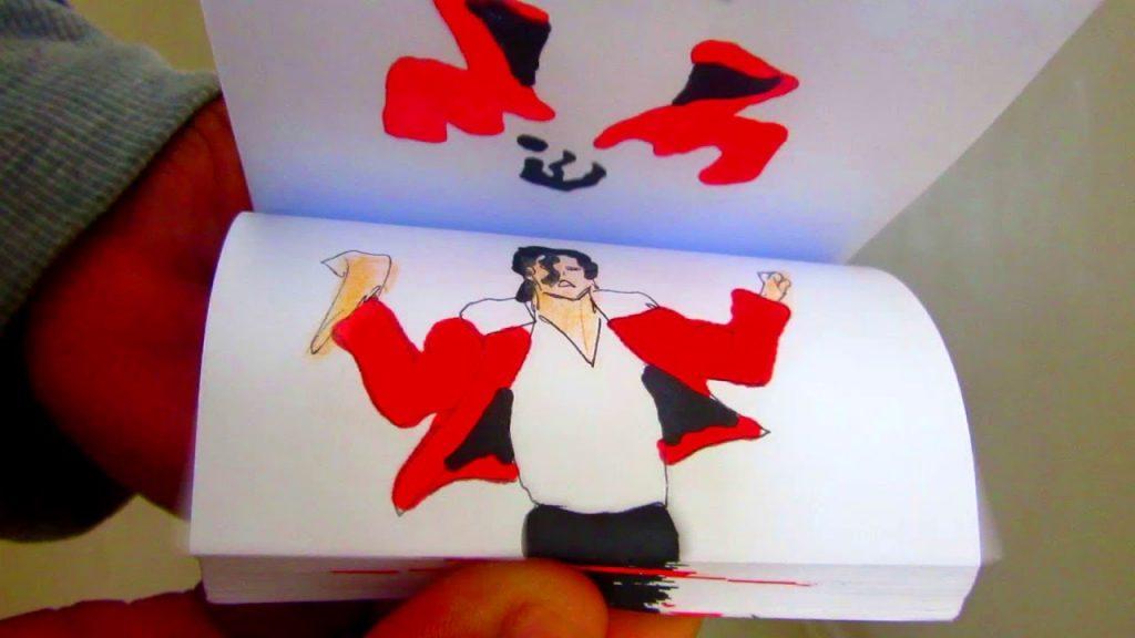 ファンが作ったマイケルジャクソンがダンスする「パラパラ漫画」が超カッコいい!