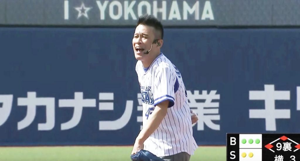 柳沢慎吾の「なかなか投げない始球式」が復活!1人7役の大作になって2018年もキレキレ!