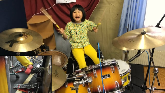 8歳(小2)の天才日本人少女ドラマーが、女性ドラマーの世界的コンテストで最終ラウンドに!