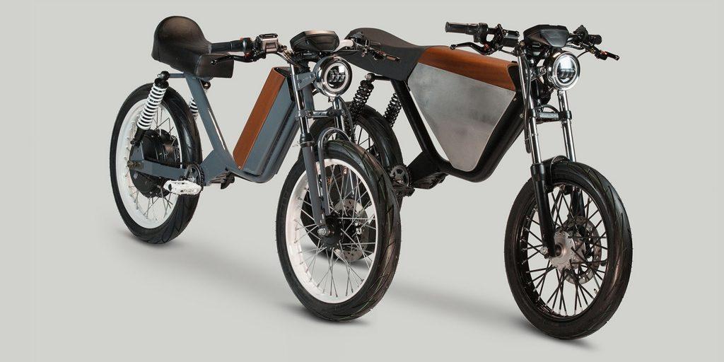70年代風のレトロな電動モペッド(原動機が付いた自転車)がカッコいい!ペダルが付いているのがクール!