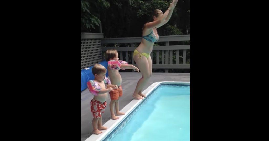 3人で飛び込みしたら、最後の子だけなんか違う笑「私の今日1日が彩られた」の声