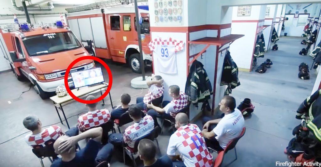 W杯決勝進出をかけた試合を見ていたクロアチアの消防士。しかし大事な場面で「出動命令」が!消防士たちの行動が素晴らしいと話題に!