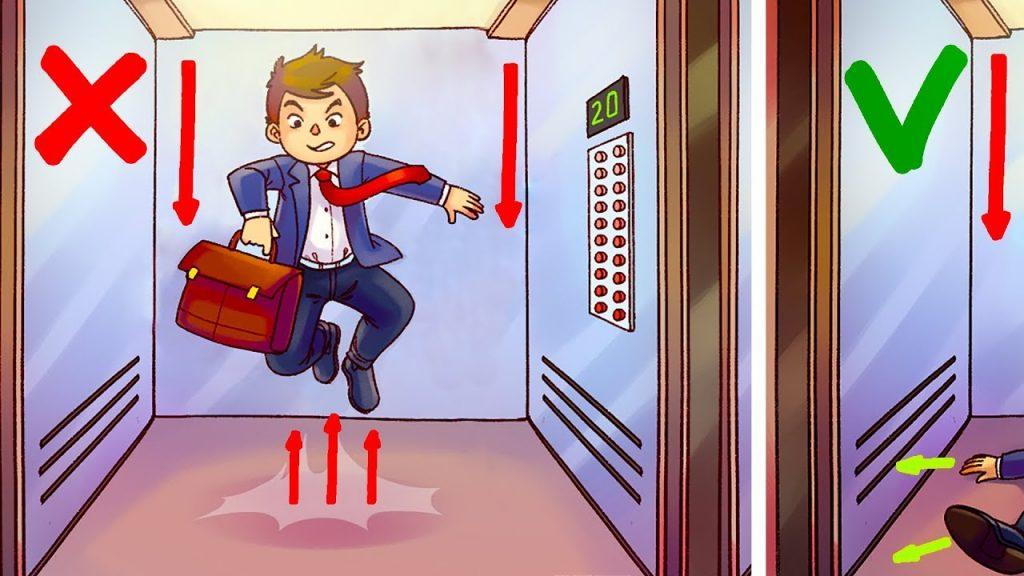 【サバイバル】ジャンプは絶対NG!科学者も言う、落下するエレベーターで生き残るためにやるべきことと、やってはいけないこと