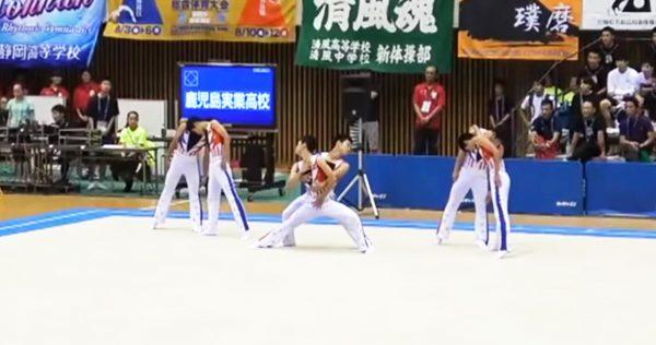 鹿児島実業・男子新体操部が2018年も最高に楽しい演技で話題に!「バブリーダンス」「ひょっこりはん」も取り入れる!