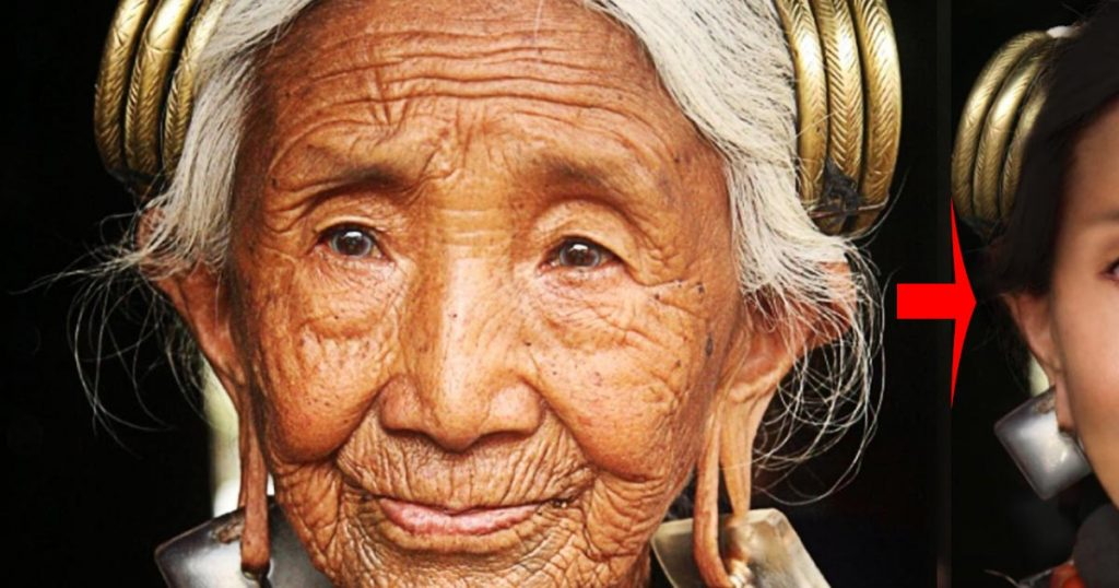 老いた女性が、元の若さと美しさに復元される動画に感動!【フォトショ職人】