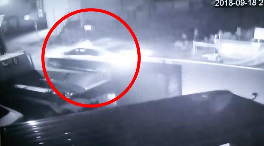 【山形】一時停止無視のパトカーが乗用車とぶつかる!防犯カメラの映像で判明!