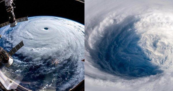 国際宇宙ステーションから撮影された「台風24号」が話題に!「地球の巨大な栓を抜いたようだ」【動画あり】