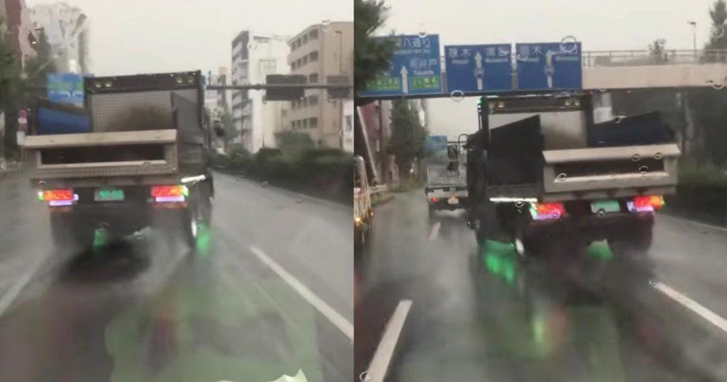 【東京】即免停にして欲しいほど悪質な蛇行運転で、後続車を妨害するトラックが物議!