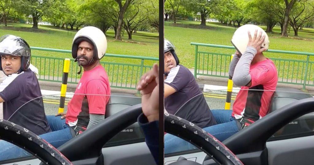 ヘルメットの被り方が圧倒的に間違っていた人に、教えてあげた反応が可愛すぎると話題に!