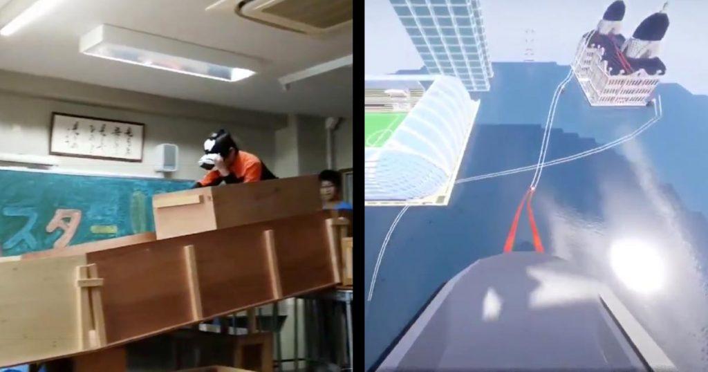 中学3年生が、文化祭で教室内に作った「VRコースター」が本気すぎると話題に!クオリティ高すぎ!