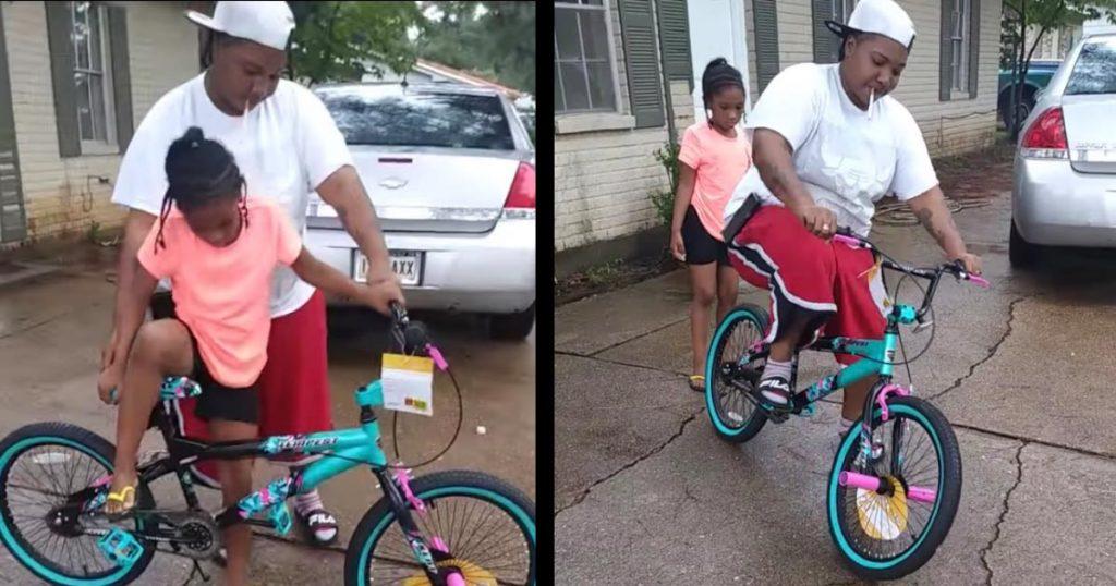 少女に自転車の乗り方を教えていた男性。お手本を見せようとしたら、カッコ悪すぎることになってしまう笑