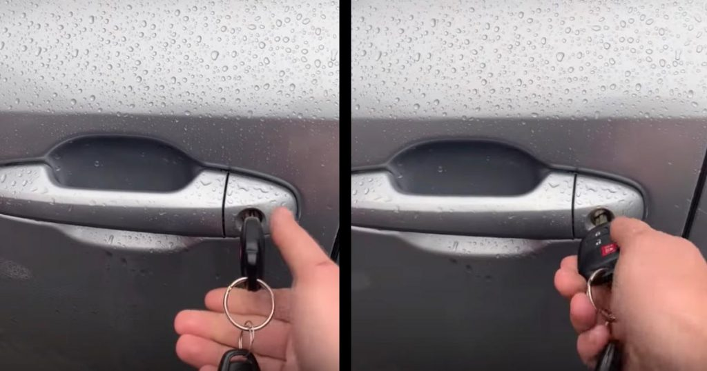 目を疑った、、車のドアを開けようと鍵を回したら、思いもよらぬことが起きて話題に!