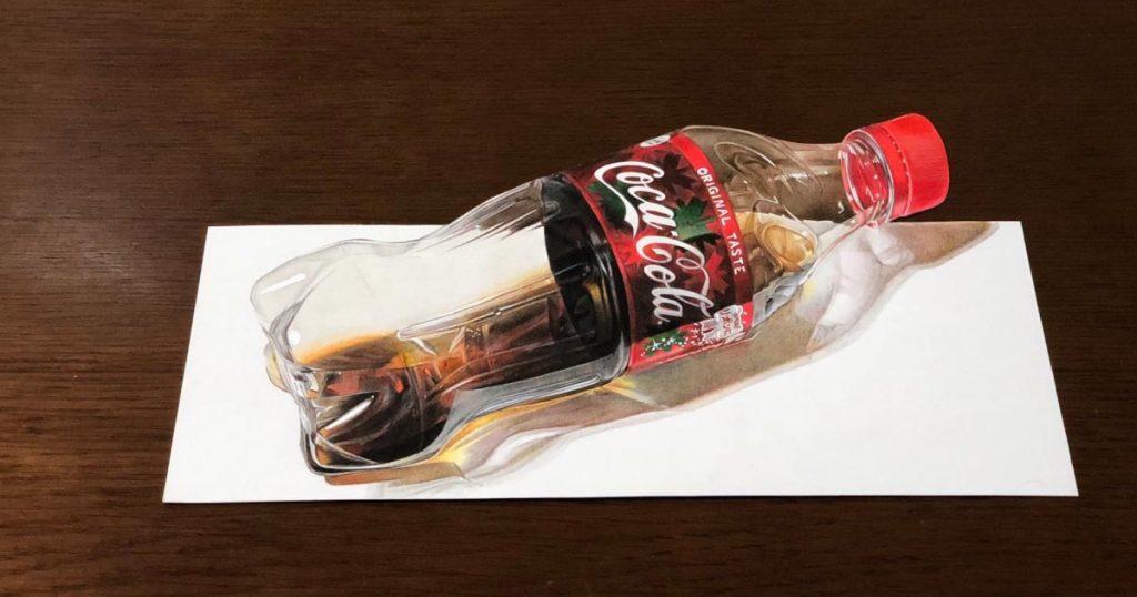本物にしか見えない!日本の15歳が描いたリアルすぎるコーラの絵が話題に!【メイキング動画あり】