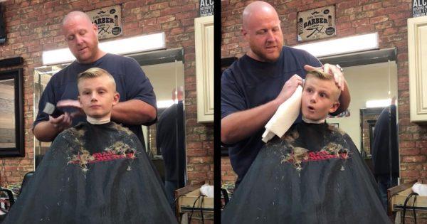 「すまん!間違った!」床屋さんが少年に仕掛けた「間違って耳を切ってしまった」ドッキリ。少年の反応が大人だと話題に!