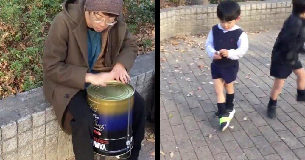 良い音がする缶を叩いてたら、子供たちがぶち上がっていった動画が話題に!「音楽って素敵」「音楽の可能性は無限」などの声