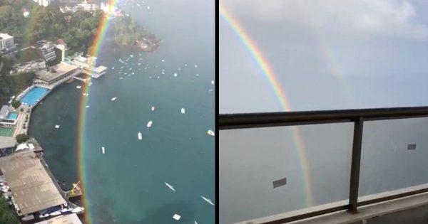 「こんな完璧な虹は見たことがない!」円を描く奇跡的な虹の姿が撮影され話題に!