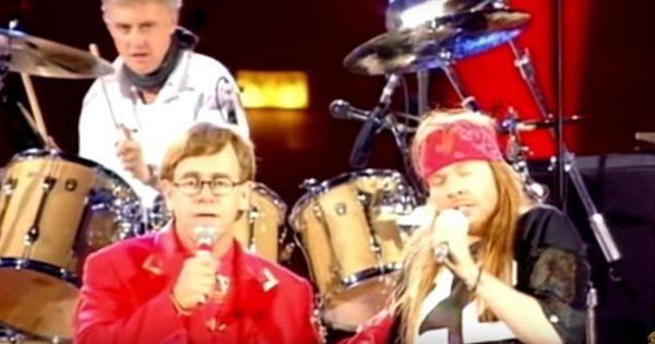 【鳥肌】フレディ・マーキュリー追悼コンサートに登場したエルトン・ジョンとガンズのアクセル・ローズが歌う「ボヘミアン・ラプソディ」に鳥肌!