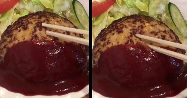 ちょっと突いただけで凄い量の肉汁がブシャー!京都「とくら」で撮影されたハンバーグの動画が美味しそうすぎると話題に!