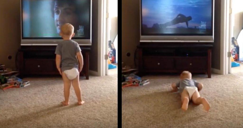 映画「ロッキー」を見て熱心にトレーニングに励む赤ちゃんが話題に!動画を見たスタローン本人も絶賛のコメント!