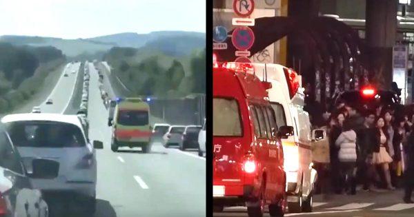 救急車へのドイツのドライバーたちの対応が素晴らしいと話題に!一方「日本は救急車が来ても譲らない」の声