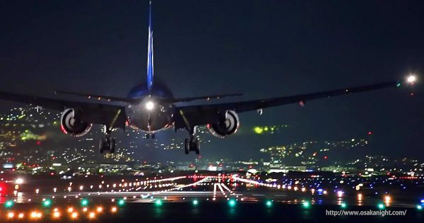 大阪・伊丹空港の夜景を撮影した動画があまりにも美しいと絶賛の声!「めちゃくちゃかっこいい」「映画のワンシーンみたい」の声