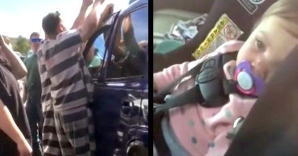 受刑者たちが車内に閉じ込められた1歳の少女を「車上荒らし」の技術でたった2分で救助し話題に!