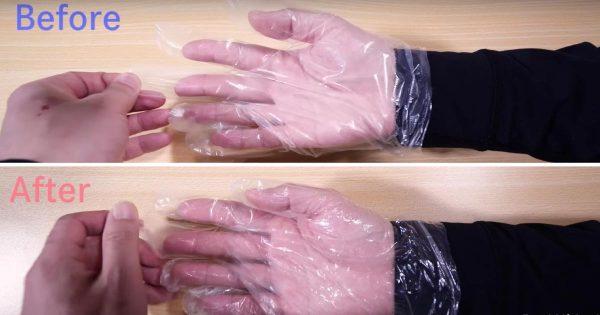 たった3秒でビニール手袋が外れにくくなる裏技がとても使えると話題に!「なるほど!」「いつも困ってたから嬉しい」などの声【ライフハック】