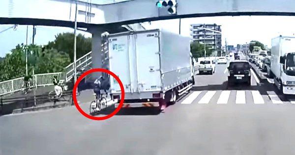 トラックに幅寄せされて怒った自転車乗り。しかし、その後のひどい怒り方でどっちもどっちに見えてしまう路上トラブル