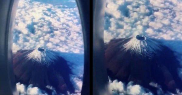 完全に騙された!部屋で撮影した「飛行機から見た壮大な富士山」の動画の発想が素晴らしいと話題に!