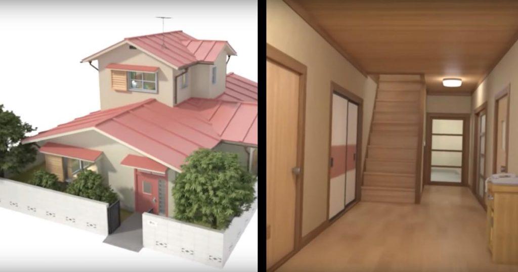 【ドラえもん】野比家を3DCGで完璧に再現した動画がすごい!中に入ると思っていたよりかなり広い!「こんな部屋あった?」などの声