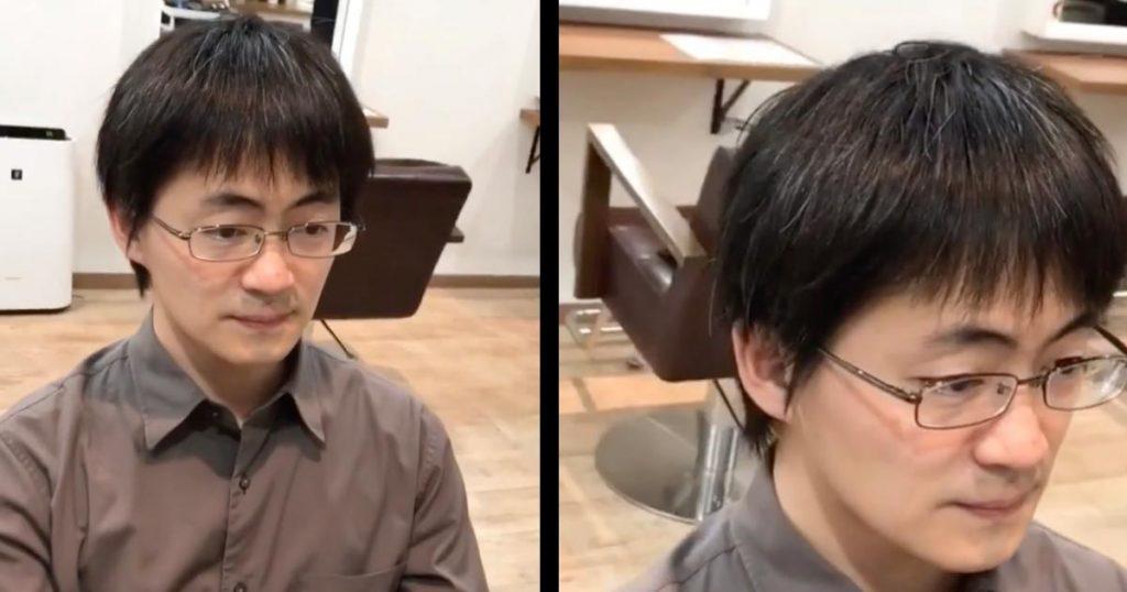 「髪型で人生変わります」一見垢抜けない男性が、髪型を変えてイケメンに大変身する動画が話題に!まるで魔法のよう!