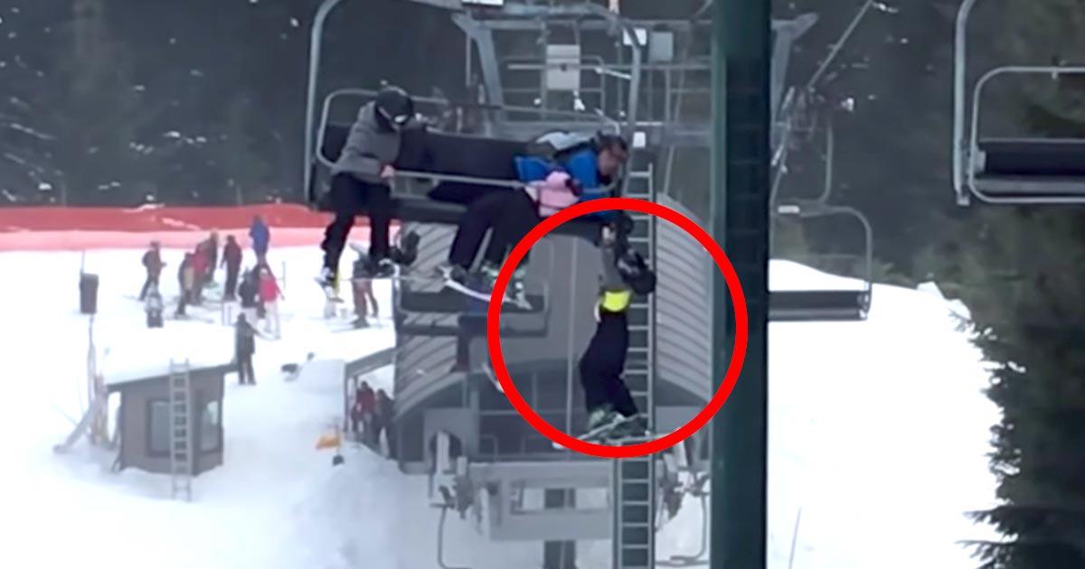 「彼らはヒーローだ!」スキー場のリフトから落ちそうな男の子。たまたまいた少年グループが凄い助け方をする動画に賞賛の嵐!
