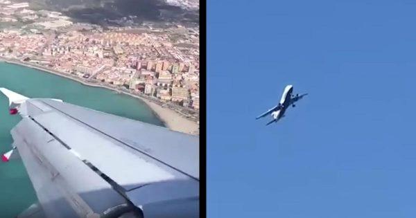 乗客「絶叫マシーンのようだった」強風で90度に揺れる飛行機を機内外から撮影した動画が話題に!