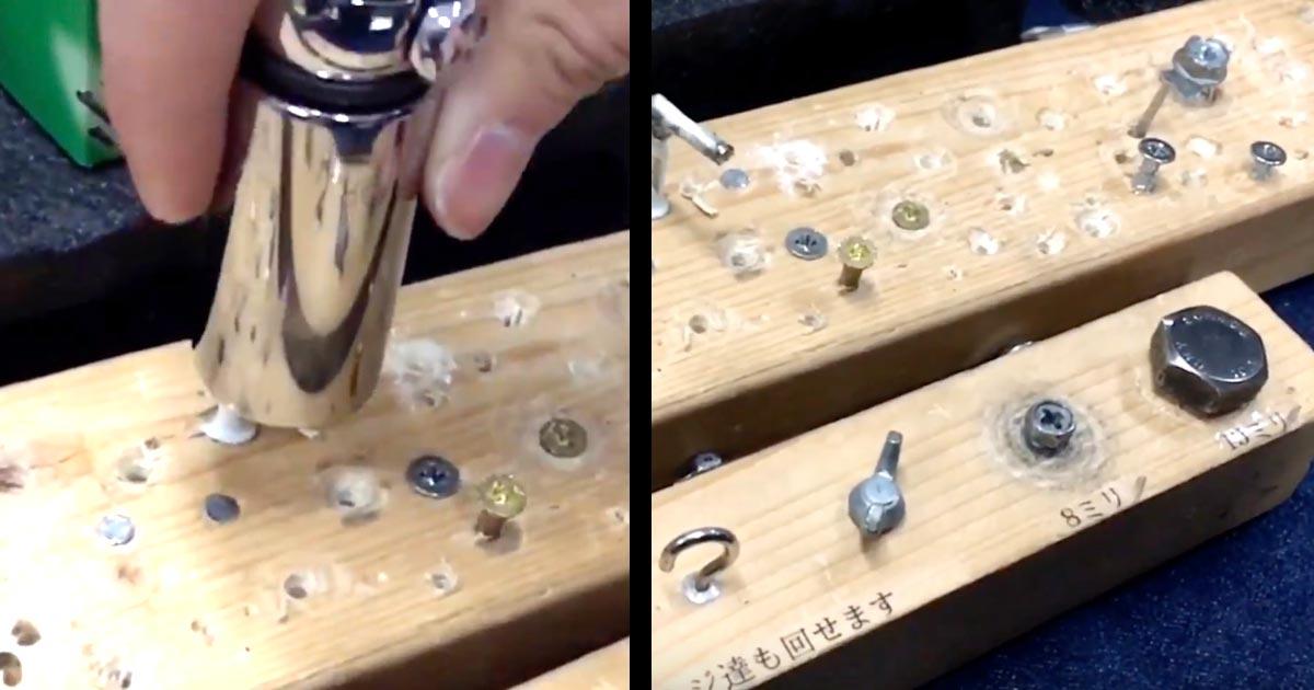 「この仕組み思いついた人天才!」色々なサイズや形のネジがこれ一本で回せる凄い工具が話題に!